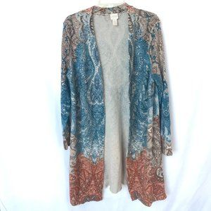 Chico's Open Cardigan Long Sweater Duster Boho 2
